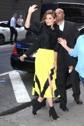 Stana Katic - Arrives at GMA in NYC 06/12/2019
