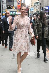Sutton Foster - Outside GMA in NYC 06/11/2019
