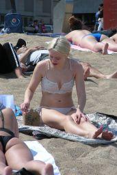 Zara Larsson in Bikini - Barcelona Beach 06/06/2019