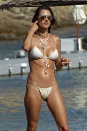 Alessandra Ambrosio in a Bikini - Mykonos 07/18/2019