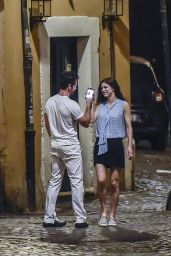 Alexandra Daddario - Out for Dinner in Rome 07/07/2019