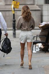 Amanda Holden Reveals Legs in Tailored Shorts 06/26/2019
