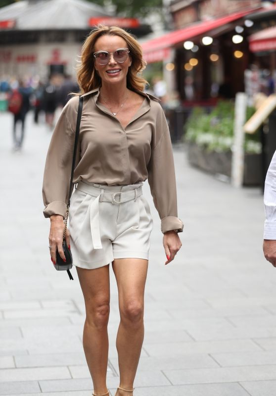 Amanda Holden Reveals Legs in Tailored Shorts 06/26/2019
