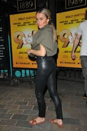 Amber Davies - Leaving Savoy Theatre in London 07/15/2019