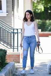Ana de Armas - Walking Her Dog in Los Angeles 07/30/2019