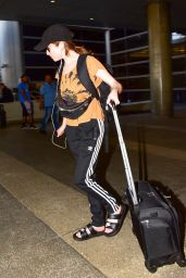 Anna Kendrick in Comfy Travel Outfit - LAX Airport 07/23/2019
