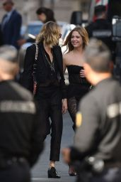 Ashley Benson and Cara Delevingne - Arrives for Zoe Kravitz and Karl Glusman Wedding in Paris 06/29/2019