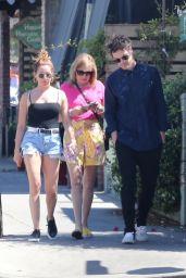 Ashley Tisdale Leggy in Jeans Shorts - Los Feliz 06/30/2019