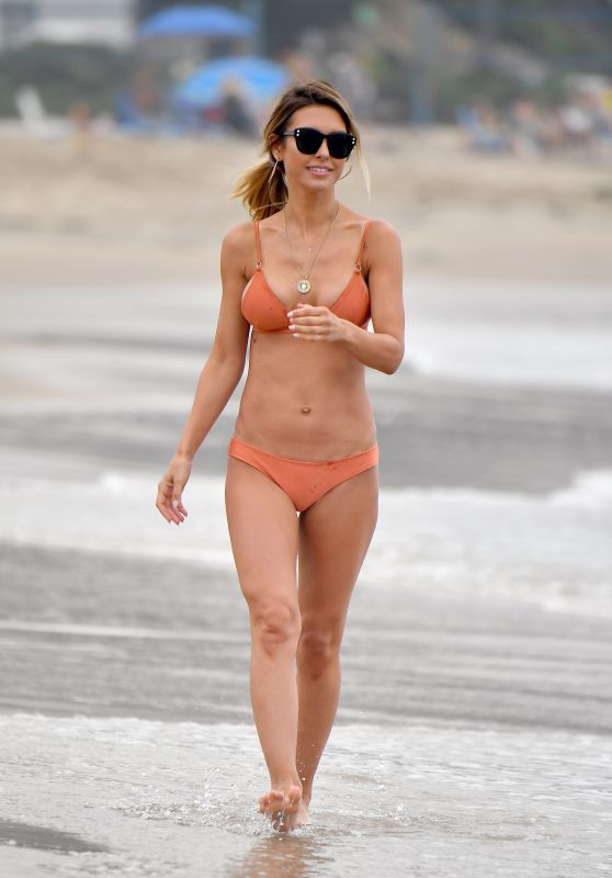 Audrina Patridge in a Bikini on the Beach in Santa Monica 07/15/2019