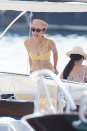 Aurora Ramazzotti in a Bikini at the Beach In Ischia 07/22/2019