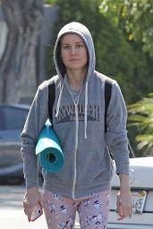 Brie Larson - Going to Yoga Class in LA 07/13/2019