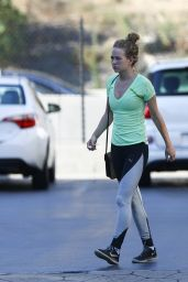 Britt Robertson at the Gym in LA 07/24/2019