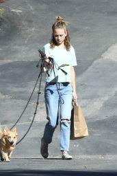 Britt Robertson - Walks Her Dogs in LA 07/23/2019