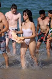 Camila Cabello and Shawn Mendes at a Pool in Miami 07/29/2019