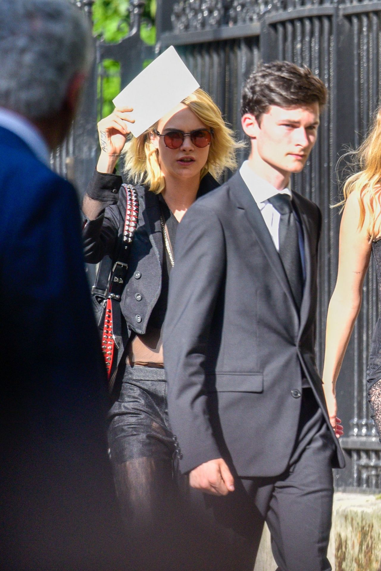 Cara Delevingne Arrives For Zoe Kravitz And Karl Glusman