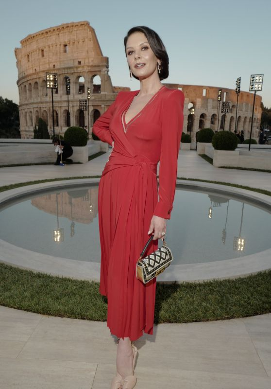 Catherine Zeta-Jones - Fendi Show at Palatine Hill in Rome 07/04/2019