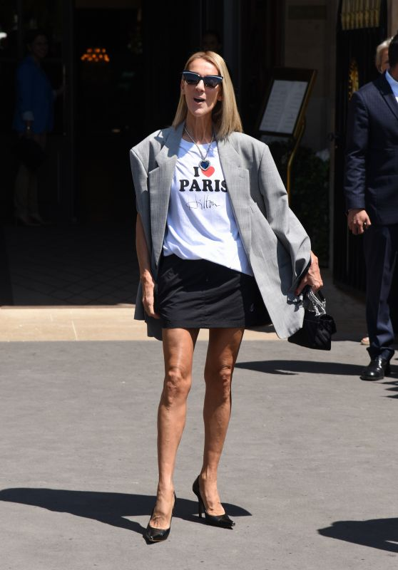 Celine Dion - Leaving Her Hotel in Paris 07/03/2019