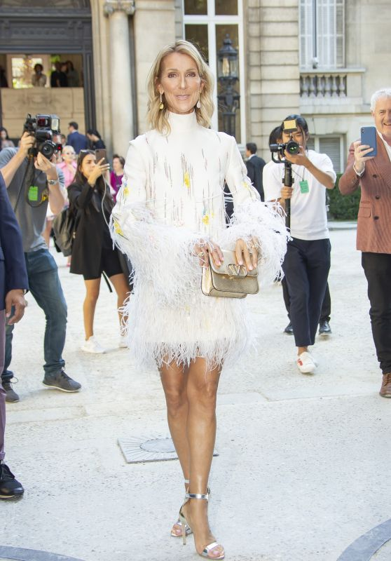 Celine Dion – Valentino Haute Couture Fall / Winter 2019 2020 Show in Paris