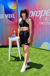 Charli XCX - Performs During a Workout Class in Los Angeles 07/20/2019