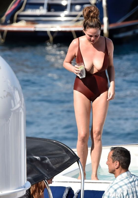 Chrissy Teigen - Holiday in Portofino 07/02/2019