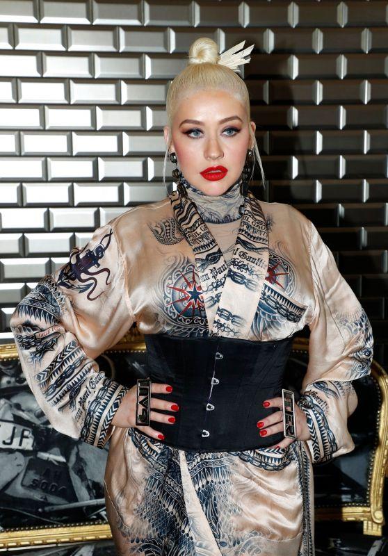 Christina Aguilera - Jean Paul Gaultier Haute Couture Fall/Winter 2019 2020 Show in Paris