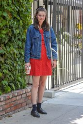 Diana Silvers Cute Style - Out for Coffee on Melrose Place