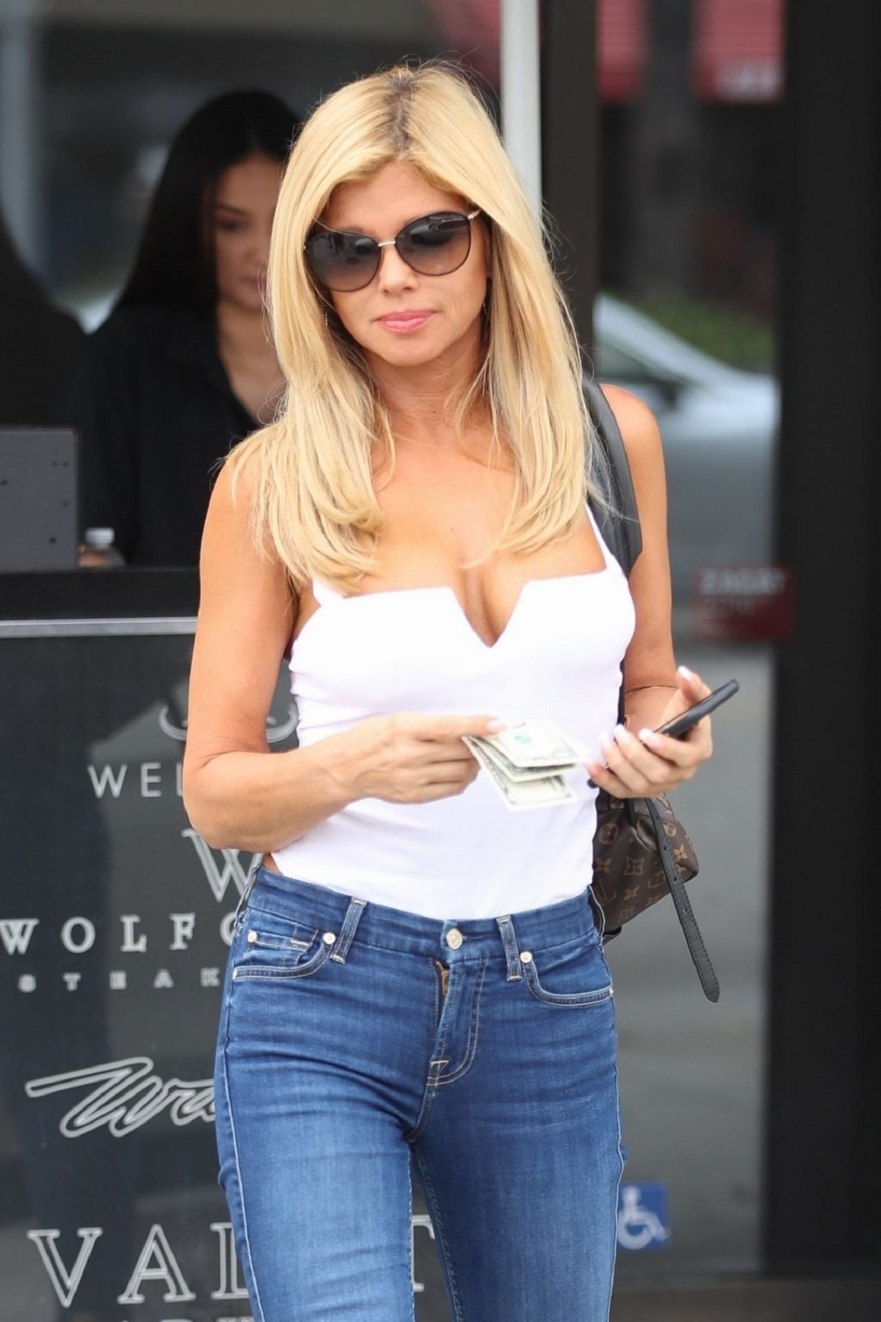 Donna D'Errico in Tight Jeans - Luch at Wally's in Beverly ...