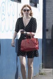 Eleanor Tomlinson in Polka Dot Mini Dress 07/29/2019