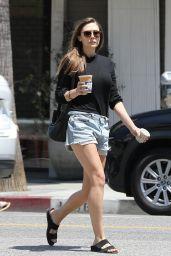 Elizabeth Olsen in Jeans Shorts 07/17/2019