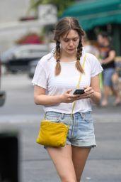 Elizabeth Olsen Leggy in Shorts - Whole Foods in LA 07/09/2019