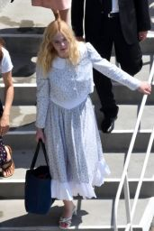 """Elle Fanning - Arriving for the """"Teen Spirit"""" Press Conference at the Giffoni Film Festival 07/22/2019"""