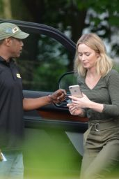 Emily Blunt - Going to a Restaurant in Upstate New York, June 2019