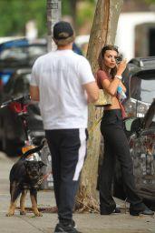Emily Ratajkowski and Sebastian Bear-McClard Take Their Dog for a Walk in NYC 07/08/2019