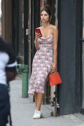 Emily Ratajkowski in Summer Dress - NYC 07/11/2019