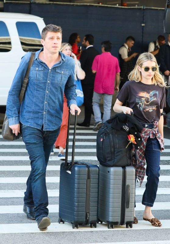 Emma Roberts and Garrett Hedlund - LAX in LA 07/03/2019