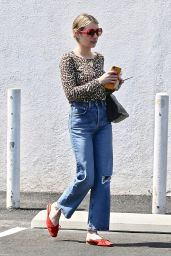 Emma Roberts - Meets Friends For Lunch in Los Feliz 07/07/2019