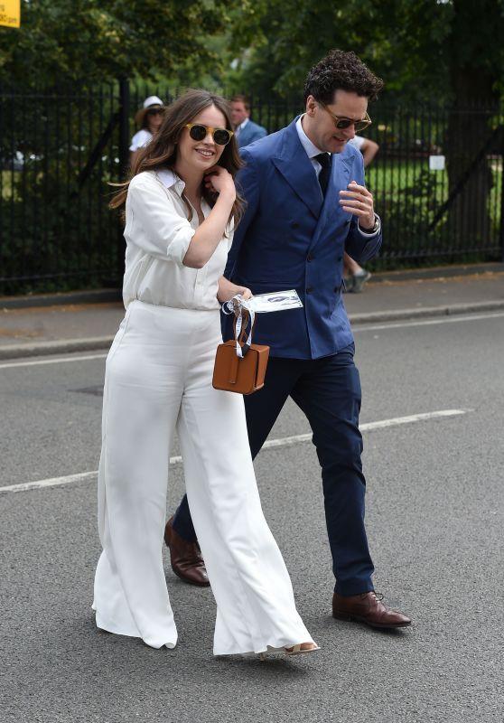 Felicity Jones - Arriving at Wimbledon in London 07/08/2019