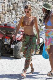 Gigi Hadid and Bella Hadid in Bikini on Mykonos Island 07/29/2019