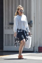 Hilary Duff - Out in Studio City 07/11/2019