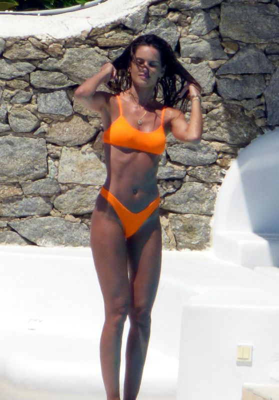 Izabel Goulart in Bikini at the Pool on Mykonos Island 06/29/2019