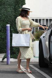 Jenna Dewan in Summer Floral Dress 07/06/2019