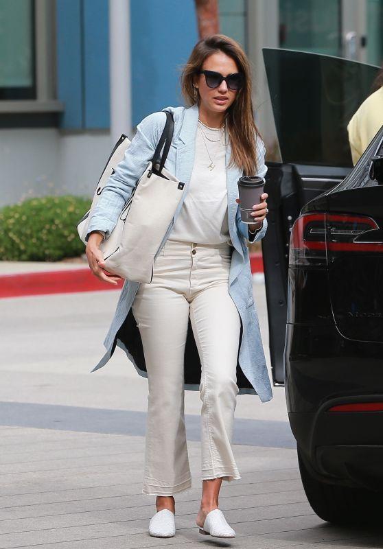 Jessica Alba Cute Style - Heading to Her Office in LA 07/09/2019
