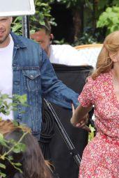 "Jessica Chastain and Sebastian Stan - ""355"" Set in Paris 07/08/2019"