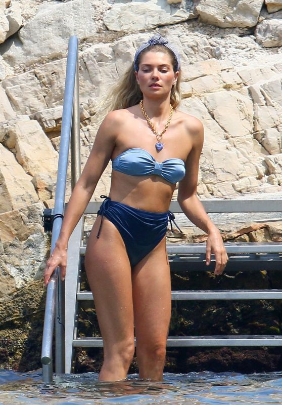 Jessica Hart - Beachwear Photoshoot in Cannes 07/04/2019