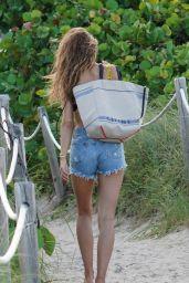Kate Bock in a Bikini - Beach in Miami 07/14/2019