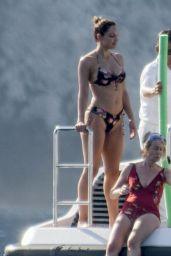 Katharine McPhee in a Bikini on a Yacht in Capri 07/03/2019