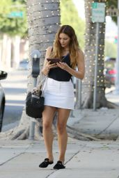 Katharine McPhee in Mini Skirt - Beverly Hills 07/24/2019