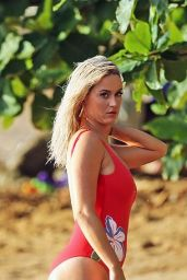 Katy Perry in a Red Swimsuit at a Beach in Hawaii 07/02/2019