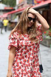 Kelly Brook in a Floral Mini Dress 07/18/2019