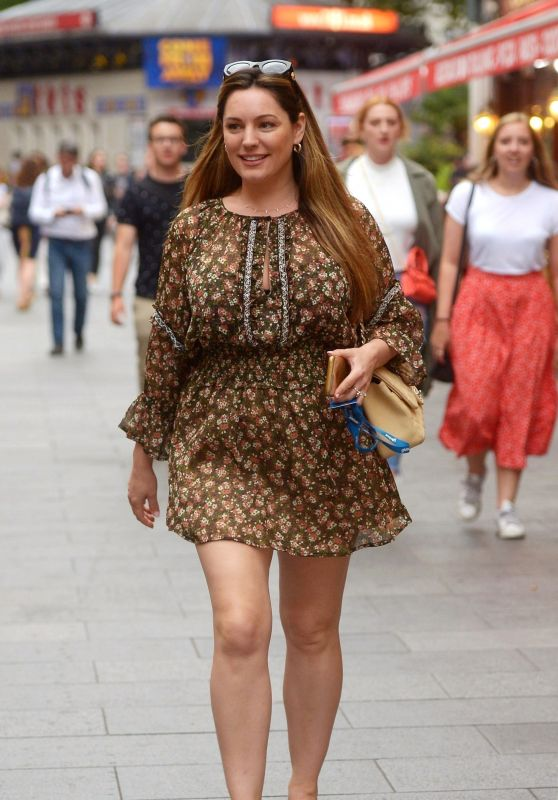 Kelly Brook in Mini Dress - London 07/08/2019